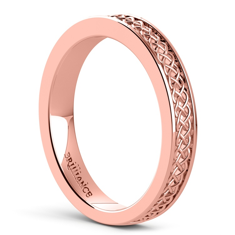 Celtic Knot Wedding Ring in Rose Gold | 04