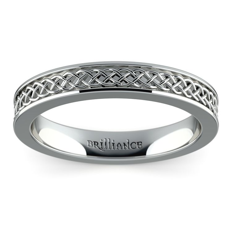 Celtic Knot Wedding Ring in White Gold | 02