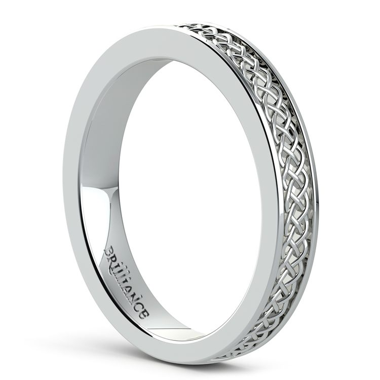 Celtic Knot Wedding Ring in White Gold | 04