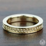 Celtic Knot Wedding Ring in Yellow Gold   Thumbnail 05