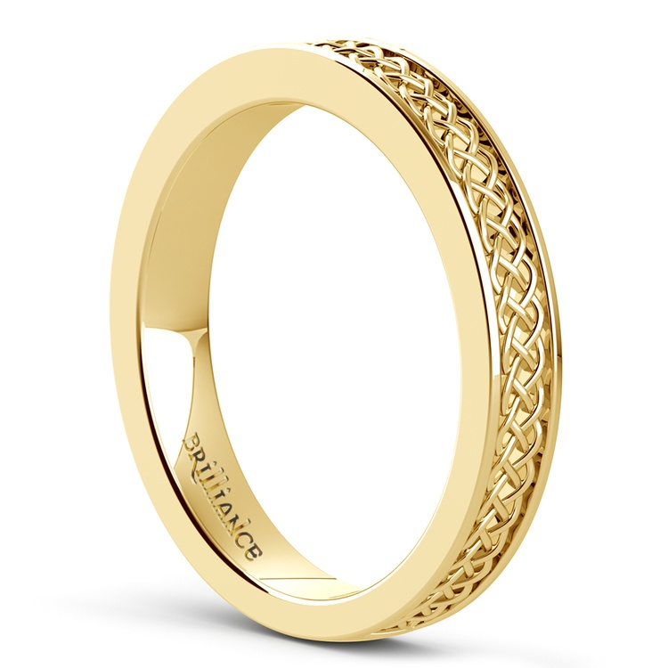 Celtic Knot Wedding Ring in Yellow Gold | 04