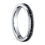Channel Black Diamond Eternity Ring in Platinum | Thumbnail 02