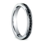 Channel Black Diamond Eternity Ring in White Gold | Thumbnail 02