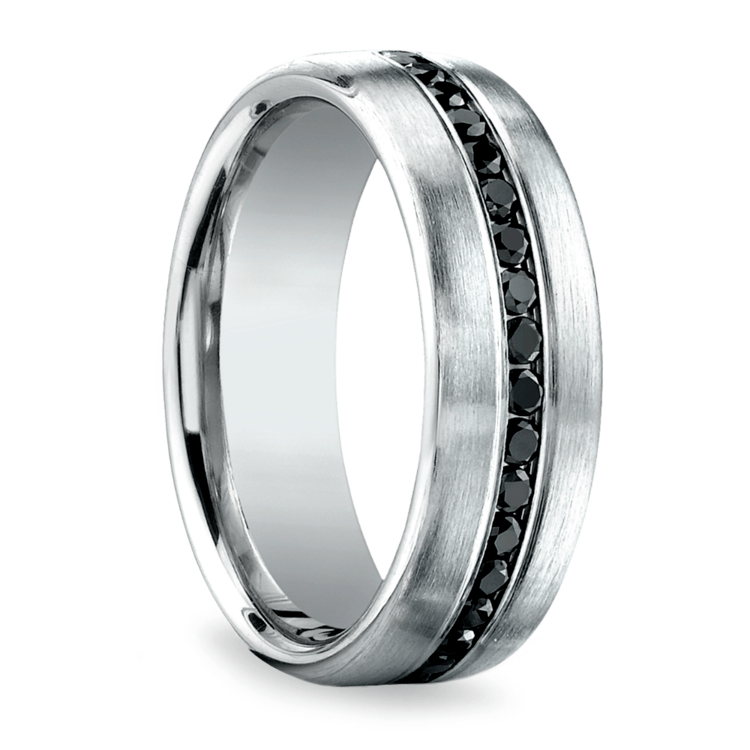 Channel Black Diamond Men's Eternity Band in Platinum | 02