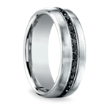Black Diamond Channel Mens White Gold Ring | Thumbnail 02