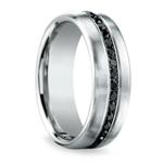 Channel Black Diamond Men's Wedding Ring in Platinum | Thumbnail 02