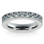 Channel Diamond Wedding Ring in Platinum (3/4 ctw) | Thumbnail 02