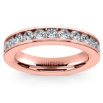 Channel Diamond Wedding Ring in Rose Gold (1/2 ctw) | Thumbnail 02