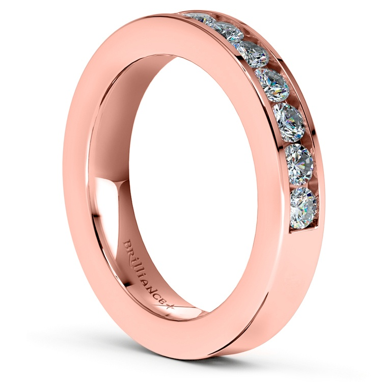 Channel Diamond Wedding Ring in Rose Gold (1/2 ctw) | 04