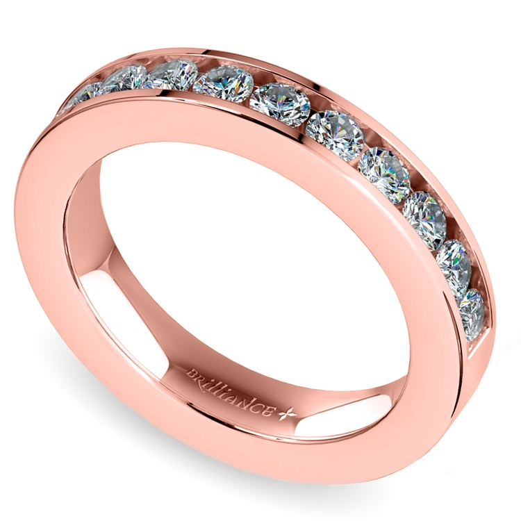 Channel Diamond Wedding Ring in Rose Gold (1/2 ctw) | 05