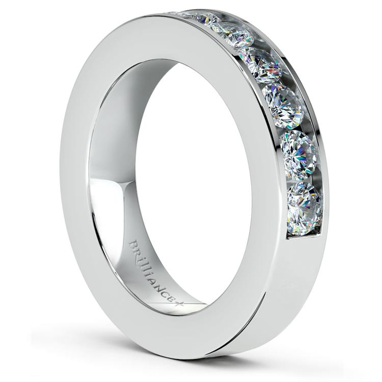 Channel Diamond Wedding Ring in White Gold (1 ctw) | 04