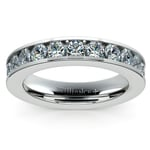 Channel Diamond Wedding Ring in White Gold (3/4 ctw) | Thumbnail 02