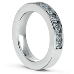 Channel Diamond Wedding Ring in White Gold (3/4 ctw) | Thumbnail 04