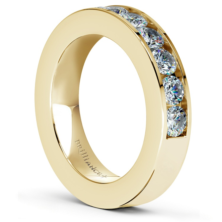 Channel Diamond Wedding Ring in Yellow Gold (1 ctw) | 04