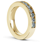 Channel Diamond Wedding Ring in Yellow Gold (3/4 ctw) | Thumbnail 04
