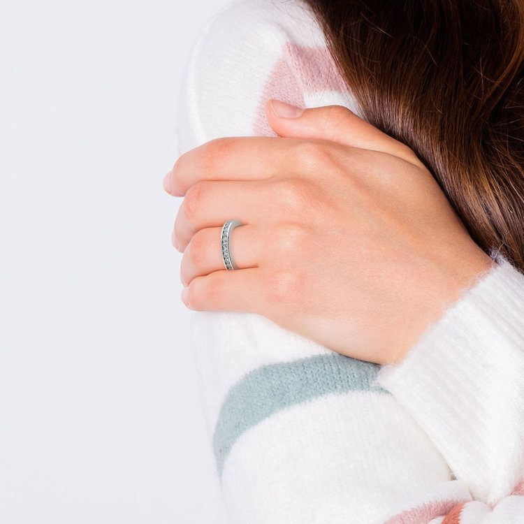 Channel Diamond Eternity Ring in Platinum (1 ctw) | 06