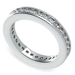 Channel Diamond Eternity Ring in White Gold (1 ctw) | Thumbnail 01