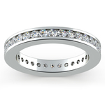 Channel Diamond Eternity Ring in White Gold (1 ctw) | Thumbnail 02