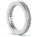Channel Diamond Eternity Ring in White Gold (1 ctw) | Thumbnail 04
