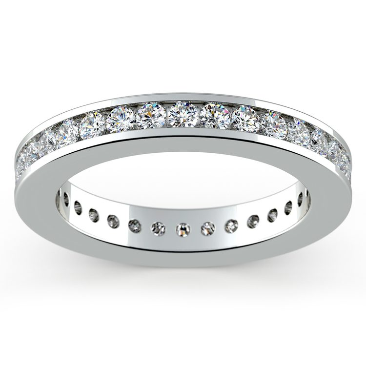 Channel Diamond Eternity Ring in White Gold (1 ctw) | 02