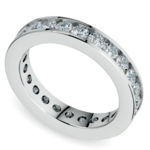 Channel Diamond Eternity Ring in White Gold (1 3/4 ctw) | Thumbnail 01