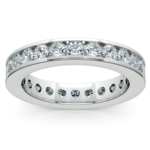 Channel Diamond Eternity Ring in White Gold (1 3/4 ctw) | Thumbnail 02