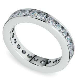 Channel Diamond Eternity Ring in White Gold (1 3/4 ctw)