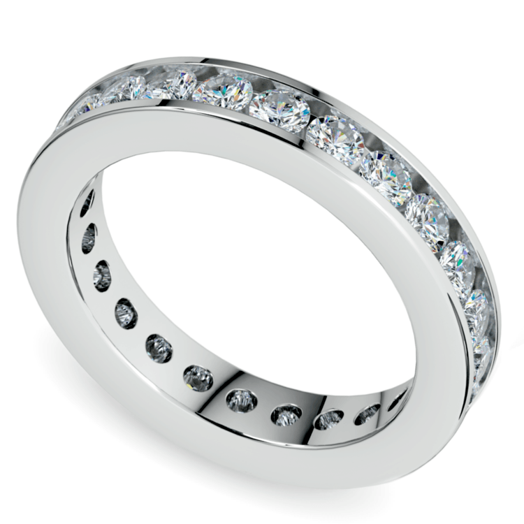 Channel Diamond Eternity Ring in White Gold (1 3/4 ctw) | 01