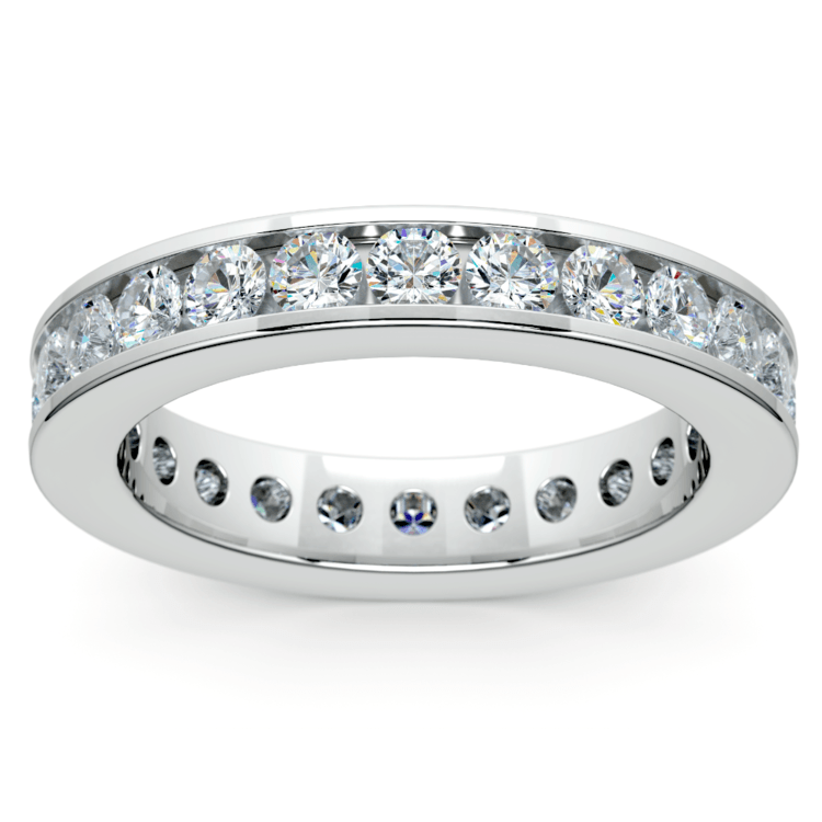 Channel Diamond Eternity Ring in White Gold (1 3/4 ctw) | 02
