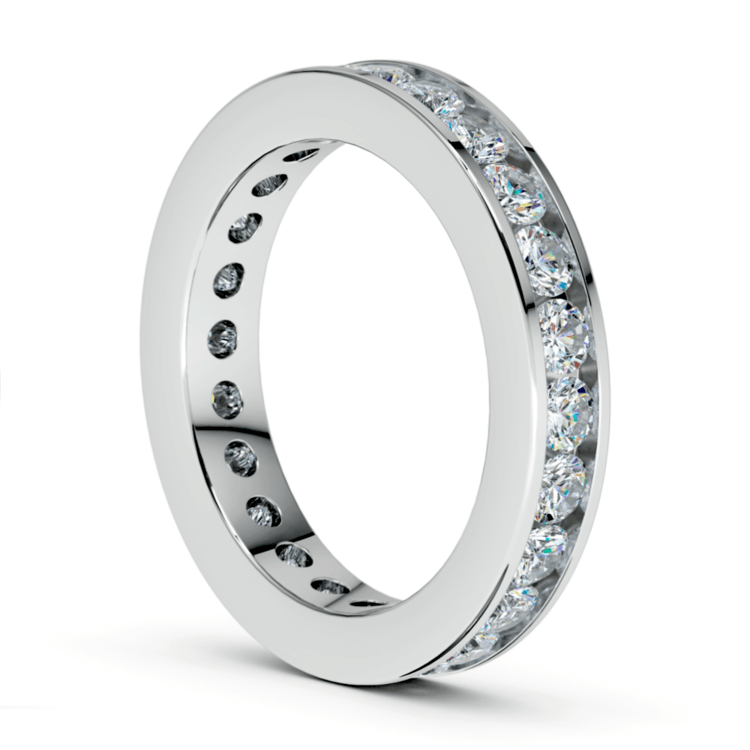Channel Diamond Eternity Ring in White Gold (1 3/4 ctw) | 04
