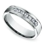 Channel Diamond Men's Wedding Ring in Palladium (6mm) | Thumbnail 01