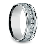 Channel Diamond Men's Wedding Ring in Platinum (8mm) | Thumbnail 02