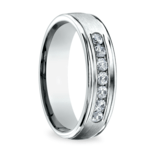 Channel Diamond Men's Wedding Ring in White Gold (6mm) | Thumbnail 02