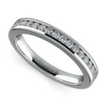 Channel Diamond Wedding Ring in Platinum | Thumbnail 01