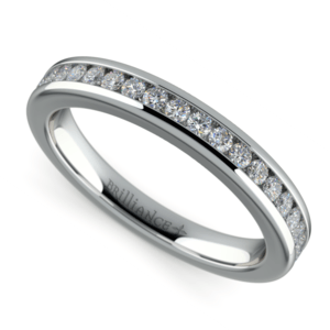 Channel Diamond Wedding Ring in Platinum