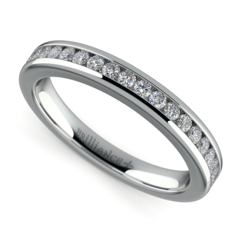 Channel Diamond Wedding Ring in Platinum | 01