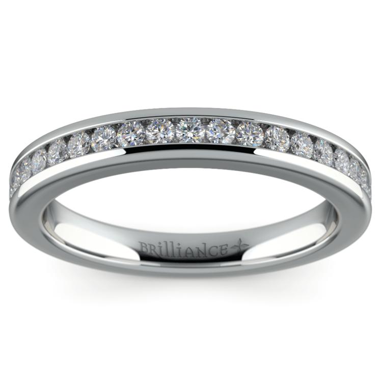 Channel Diamond Wedding Ring in Platinum | 02