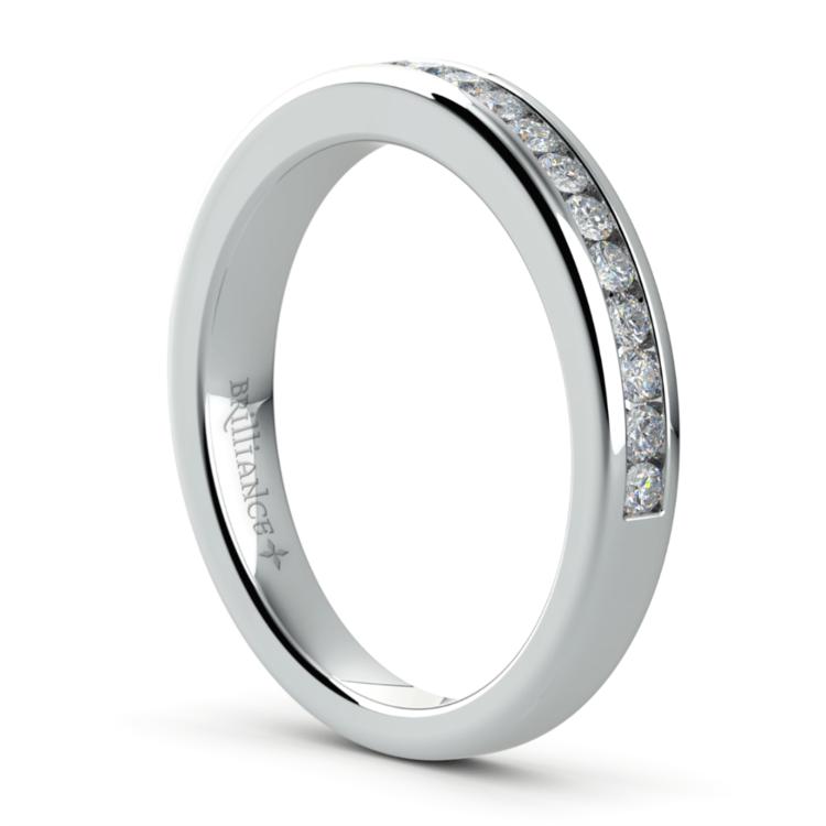 Channel Diamond Wedding Ring in Platinum | 04