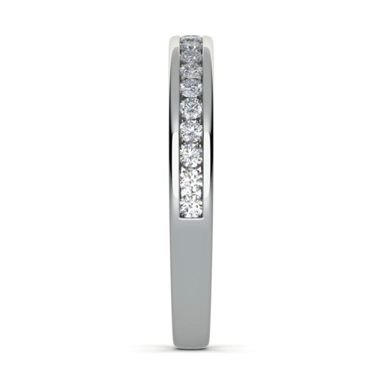 Channel Diamond Wedding Ring in Platinum | 05
