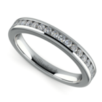 Channel Diamond Wedding Ring in White Gold | Thumbnail 01