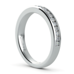 Channel Diamond Wedding Ring in White Gold | Thumbnail 04