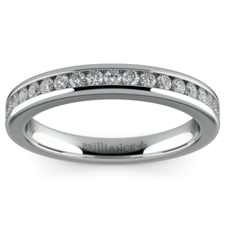 Channel Diamond Wedding Ring in White Gold | 02