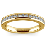 Channel Diamond Wedding Ring in Yellow Gold | Thumbnail 02