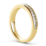 Channel Diamond Wedding Ring in Yellow Gold | Thumbnail 04