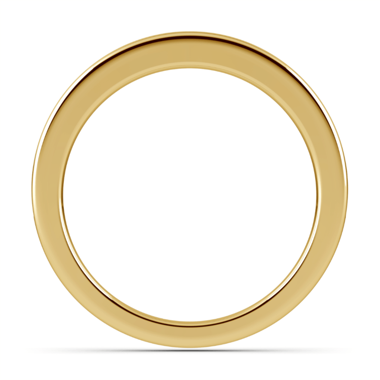 Channel Diamond Wedding Ring in Yellow Gold | 03
