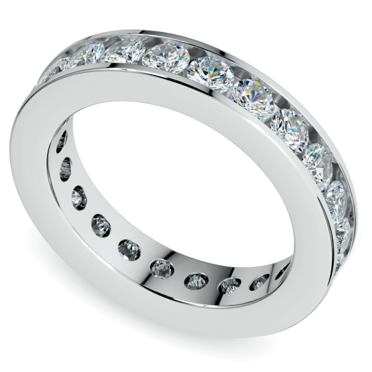 Channel Diamond Eternity Ring in Platinum (2 1/4 ctw) | 01