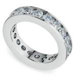 Channel Diamond Eternity Ring in Platinum (3 ctw) | Thumbnail 01