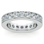 Channel Diamond Eternity Ring in Platinum (3 ctw) | Thumbnail 02