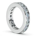 Channel Diamond Eternity Ring in Platinum (3 ctw) | Thumbnail 04