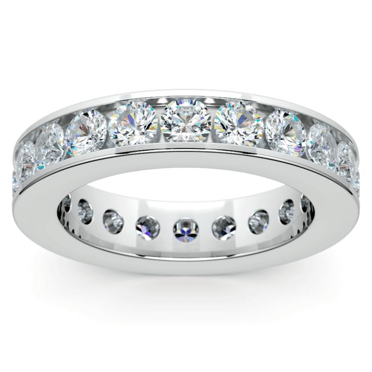 Channel Diamond Eternity Ring in Platinum (3 ctw) | 02